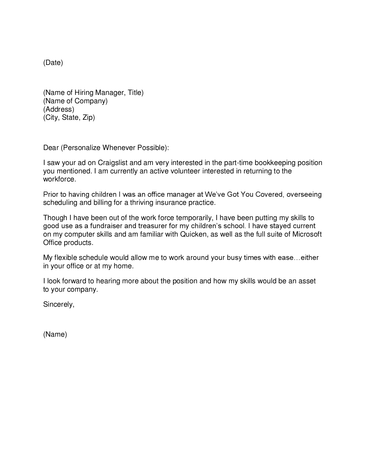 Cover Letter For Job Application Manager] what cover letter ...
