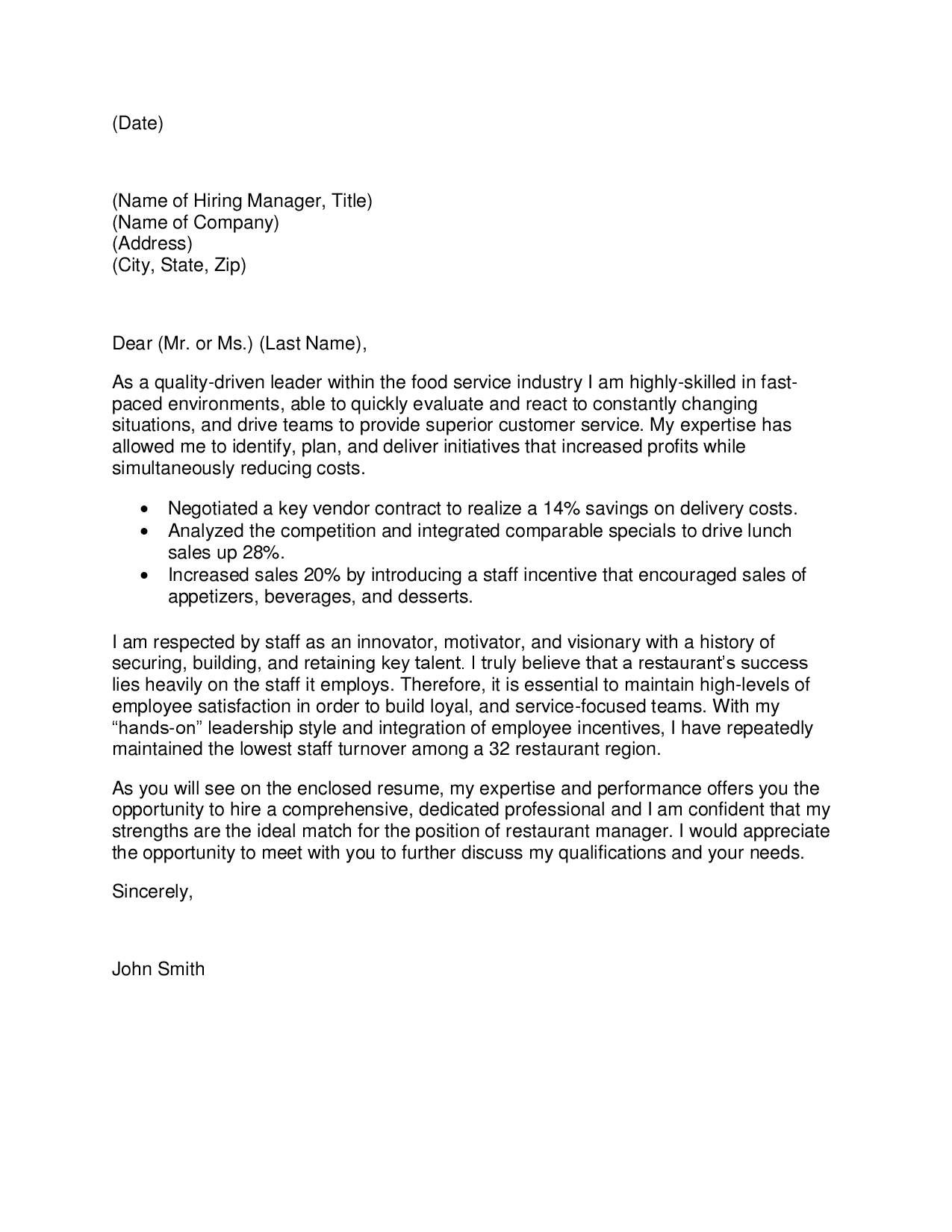 sales and marketing cover letters - Template - Template sales and marketing cover letters